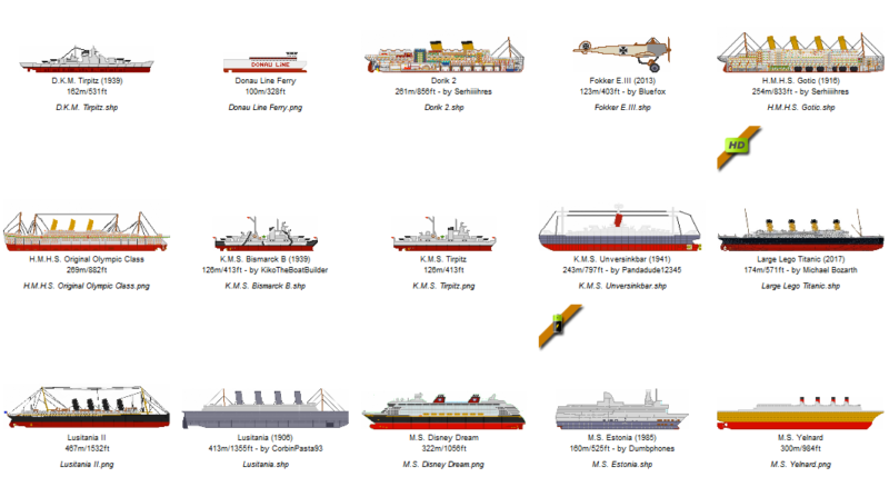 Legacy Floating Sandbox Ships Vol. I